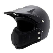 BYE Vintage Motorcycle Helmet Men Full Face Helmet Moto Riding Chopper Cruiser Scooter Biker Motocross Helmet Motorbike