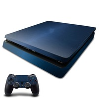 OSTSTICKER OSTSTICKER Metal blue For Sony PS4 Slim Vinyl Skin Sticker Cover For Playstation 4 Slim Decal