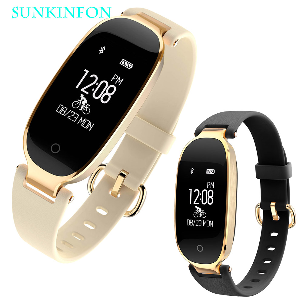 For Woman Girl SK3 Fashion Sport Bluetooth Smart Watch Wristband Passometer Heart Rate Monitor Sleep Fitness