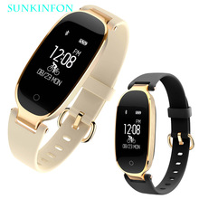 For Woman Girl SK3 Fashion Sport Bluetooth Smart Watch Wristband Passometer Heart Rate Monitor Sleep Fitness Tracker Smartwatch