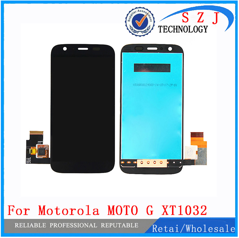 New Touch Digitizer Screen + LCD Display Assembly For Motorola MOTO G XT1032 XT1033 Digitizer Sensor Glass Lens Free shipping free dhl brand new black lcd display touch screen digitizer assembly for sony xperia z1s l39t c6916