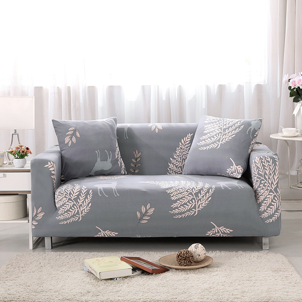 Universal Slipcovers Sectional Elastic Stretch Sofa Cover For Living Room Furniture Couch Cover