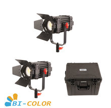 2 Pcs CAME TV Boltzen 60w Fresnel Fanless Focusable LED Bi Color Kit Led video light