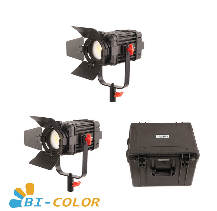 2 Pcs CAME TV Boltzen 60w Fresnel Fanless Focusable LED Bi Color Kit-in Photo Studio Accessories from Consumer Electronics