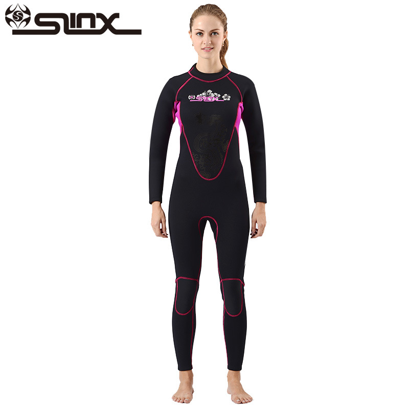 SLINX CORAL Women 3MM Wetsuit Aqualung Neoprene Professional Diving Equipment Surfing Suit Scuba Jumpsuits