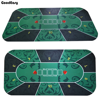 180*90cm Suede Rubber Texas Hold'em Casino Poker Tablecloth  Board Game Deluxe High Quality Table Cloth with Flower Pattern