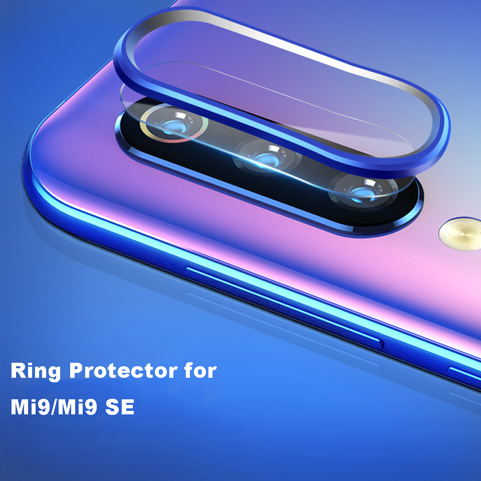For Xiaomi Mi9 Mi 9 Se Redmi Note 7/pro Back Camera Aluminum Ring Case Protector Rear Lens Metal Circle With 1pc Soft Lens Glass Home