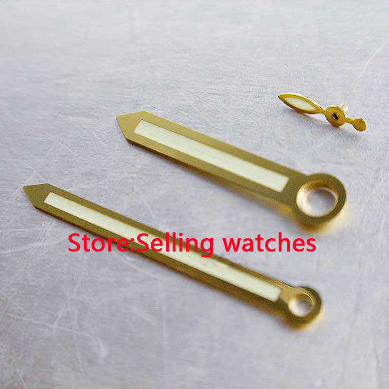 parnis gold super lume watch hands for 47mm case 6497 6498 st36 movment