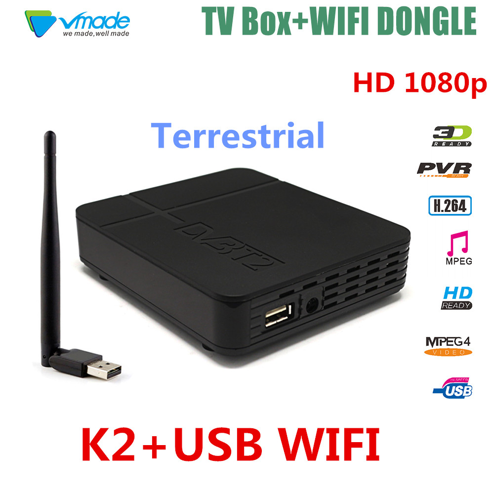 Newest font b TV b font box HD K2 FTA DVB T2 Terrestrial font b Receiver