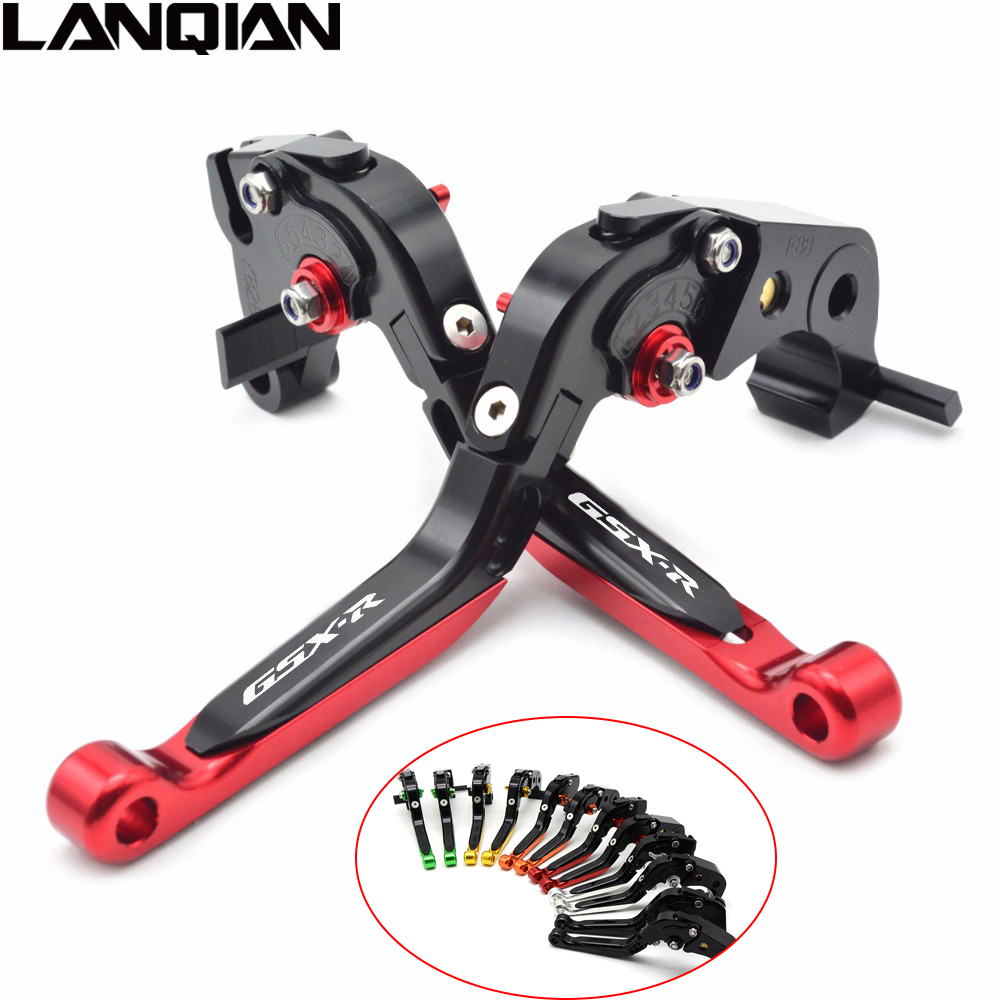Adjustable Folding Extendable CNC Long Adjuster Brake Clutch Levers For Suzuki GSXR 1000 2009 - 2017 GSXR 600/750 2011 - 2017 gt motor f 16 dc 80 adjustable cnc 3d extendable folding brake clutch levers for moto guzzi breva 1100 norge 1200 gt8v