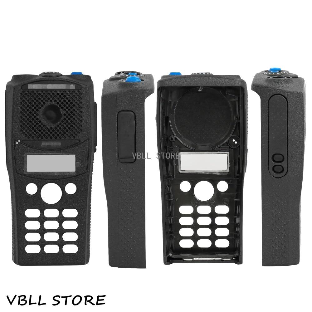 Black Full-keypad ReplacementHousingCaseCoverFor Motorola PR400 RADIO