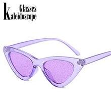 9fa5c0c67 Pequeno Gato Olho Óculos de Sol 2018 Nova Moda óculos de Sol Das Mulheres  Do Vintage Sexy Eyewear Eyewear Lente Tonalidade Brilh.