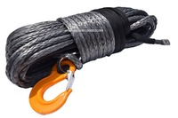 Grey 12mm*45m Synthetic Winch Rope,Plasma Winch Cable,Winch Rope Extension ,Kevlar Rope