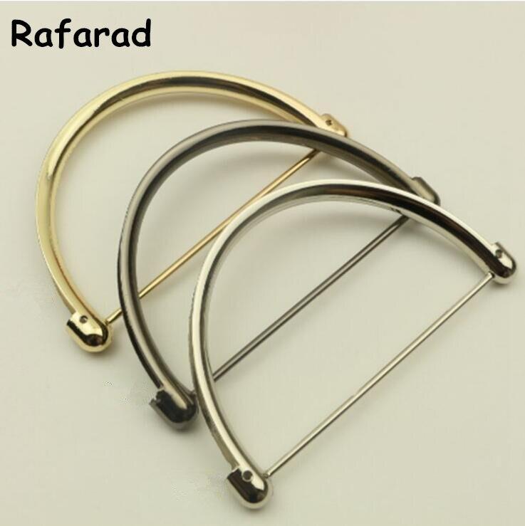 10 pcs Wholesale DIY Accessoire Sac Main 11 X6.5 CM Silver Gold Gunmetal Metal Purse Frame Handle Fashion Obag Metal Bag Handle