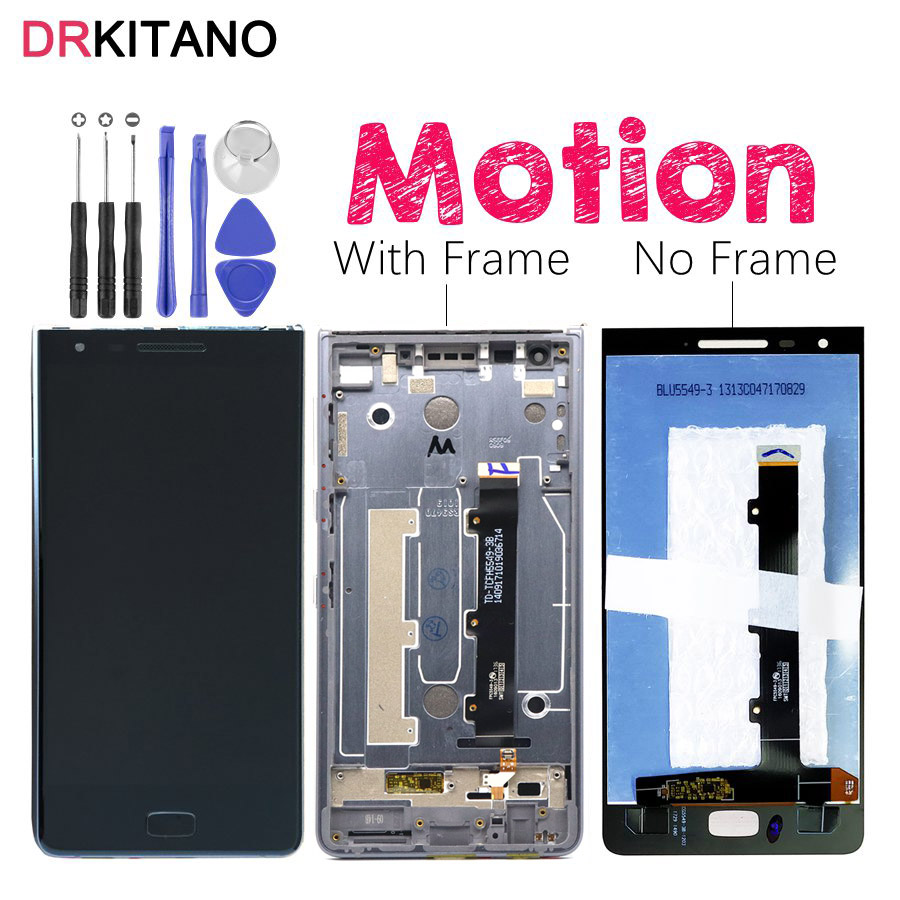 """DRKITANO For 5.5"""" Blackberry Motion LCD Display Touch Screen Digitizer Assembly For BlackBerry Motion LCD With Frame Replacement-in Mobile Phone LCD Screens from Cellphones & Telecommunications    1"""