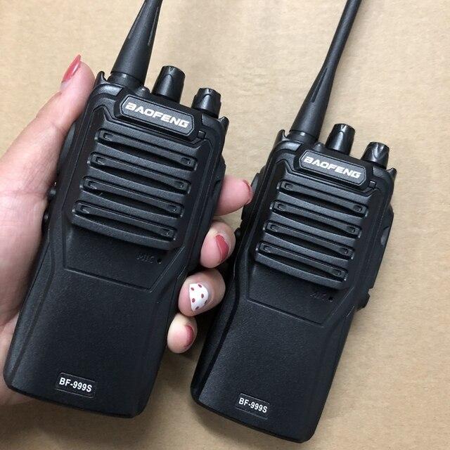 2 sztuk baofeng 999S walkie talkie UHF 400 470mhz 5W potężny dwukierunkowy radio 16 kanałowy + kabel programowy