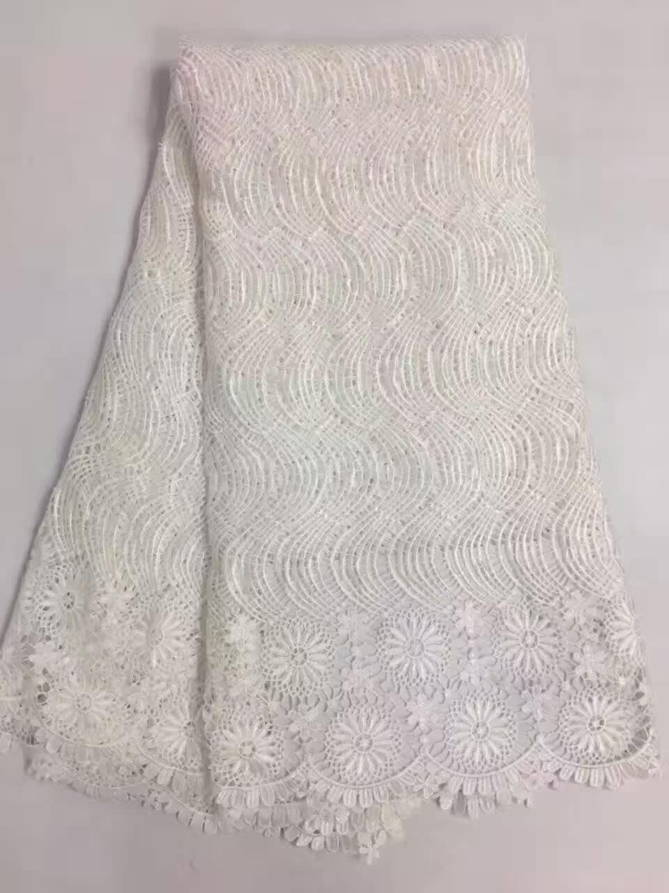ᗜ Ljഃ5 tipo color tela africana del cordón del guipure de La Flor 5 ...