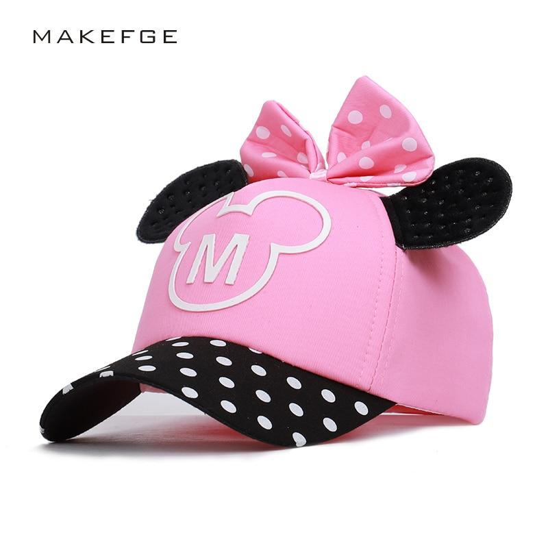 Cartoon Mickey Child   Baseball     Caps   Boy Girl Universal Adjustable High Quality Outdoor shade Summer Hats snapback streetwear bone