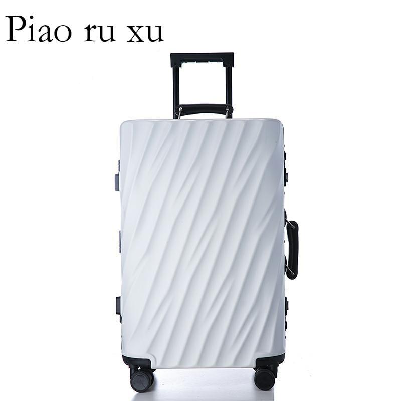 """Moda 7 color 20 """"22"""" 24 """"26"""" 29 """"marco de aluminio VS equipaje duro de policarbonato equipaje maleta equipaje rodante-in Maletas duras from Maletas y bolsas    2"""