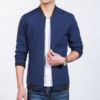 Men Jackets And Coats Baseball Collar Buttons Fitted Bomber Jacket Man Zipper Pocket Korean Slim Causal