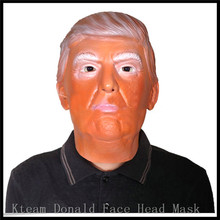 Free Shipping!!! New Arrival!!!2016 New Presidential Candidate Donald Trump Human Mask Latex Rubber Halloween Mask for playing