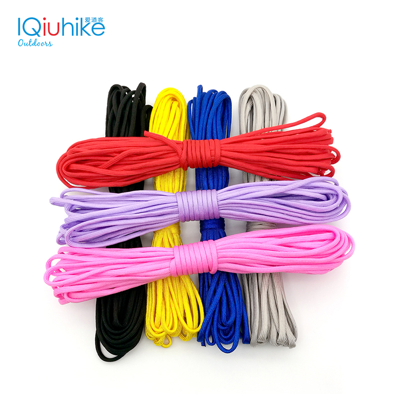 IQiuhike 200colors Paracord 550 Parachute Cord Lanyard Rope Mil Spec Type III 7Strand 100FT ClimbingCamping Survival Equipment iqiuhike multifunction parachute 550 popular type iii 7 strand paracord cord lanyard mil spec core 100ft camping survival tool