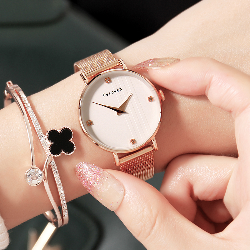 Luxury Brand Simple Style Dress Ladies Watches Fashion Quartz Women Watch Milan Mesh Belt Girl Fashion Casual Watch Reloj Mujer luxury pear shell dial ladies watches fashion green quartz women watch rose gold milan mesh belt waterproof watch reloj mujer