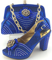 2016 new design Italian Shoes With Matching Bags African Women Shoes and Bags Set in blue Good Selling!!!MJY1-32