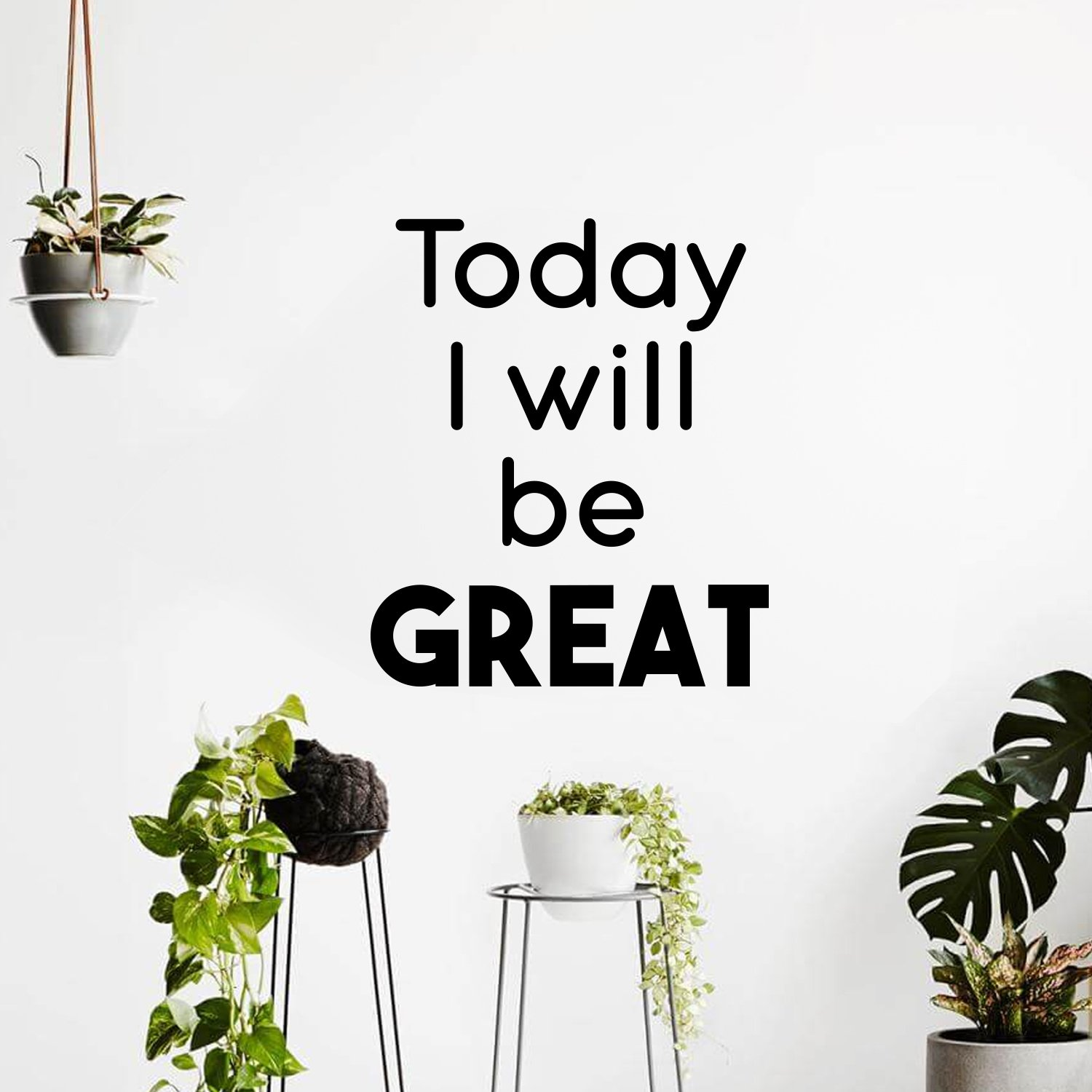 Fun today i will be gream Wall Sticker Pvc Wall Art Stickers Modern Wallsticker For Kids Rooms Home Decoration Accessories in Wall Stickers from Home Garden