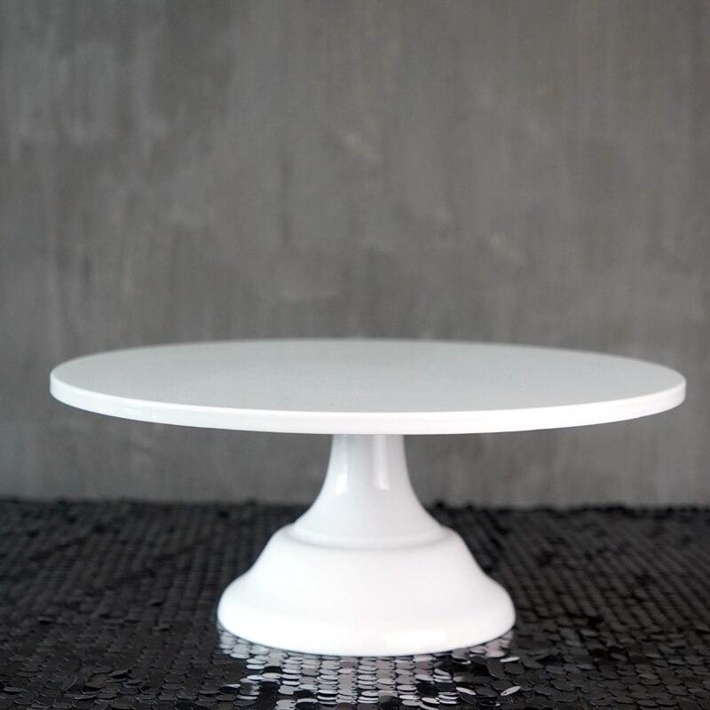 Support de gâteau en métal accessoire de gâteau de mariage 10/12 pouces rose/bleu/blanc/noir Grand fournisseur d'événement de partie de conception