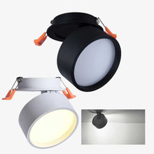 Hot sale 7W/12W/18W COB Led Recessed down lamp Foldable and 360 degree rotatable light spray background