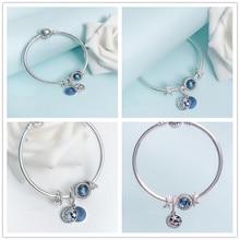 2019 NEW Luxury Brand Silver chain Bangle original 925 charm bracelet women jewlery making,1pz все цены