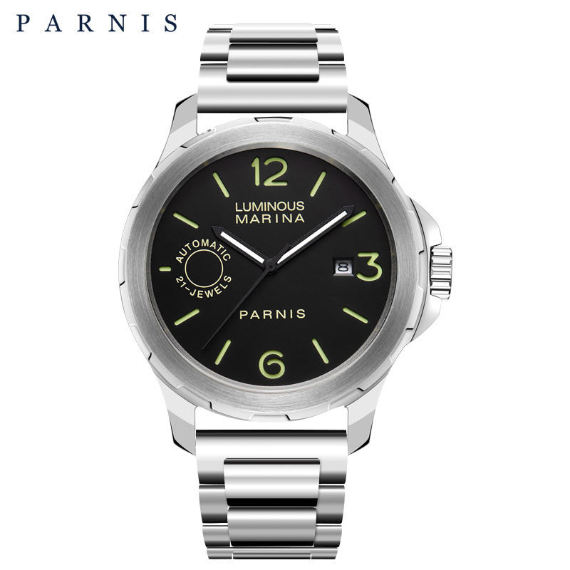 2018 Nieuwe collectie Parnis 44m heren horloges mechanische horloges - Herenhorloges - Foto 2