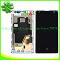 Original 1020 lcd painel de toque para o nokia lumia 1020 lcd Painel de exibição Digitador Da Tela de Toque Com Quadro Assembléia Livre Por pós
