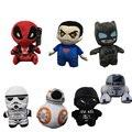 1 шт. 20 см мультфильм супермен и бэтмен звездные войны 7 BB8 плюшевые игрушки дэдпул мягкие игрушки плюшевые куклы для детских детей