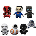 1pcs 20cm  Cartoon Superman and Batman Star Wars 7 BB8 plush toys Deadpool stuffed animals plush dolls for baby kids