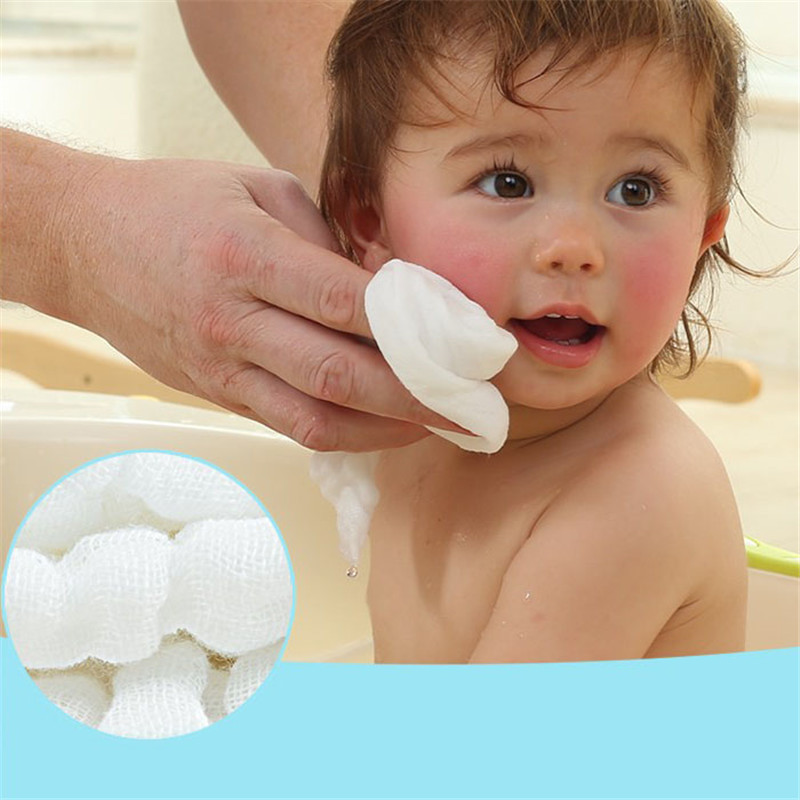 Baby Bath Towels 100% Cotton Gauze Solid Ultra Soft Strong Water ...