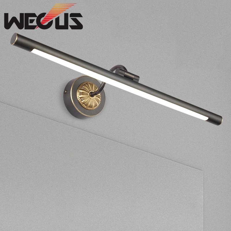 American black/bronze mirror cabinet wall lamp vintage led bathroom lighting bulb fittings hotel malon light 43cm 10W