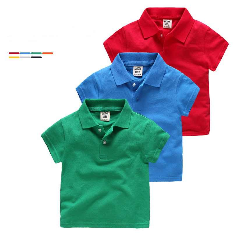 Casual Summer Cotton Baby Boys Polo Shirts For Age 2-7 Years Old