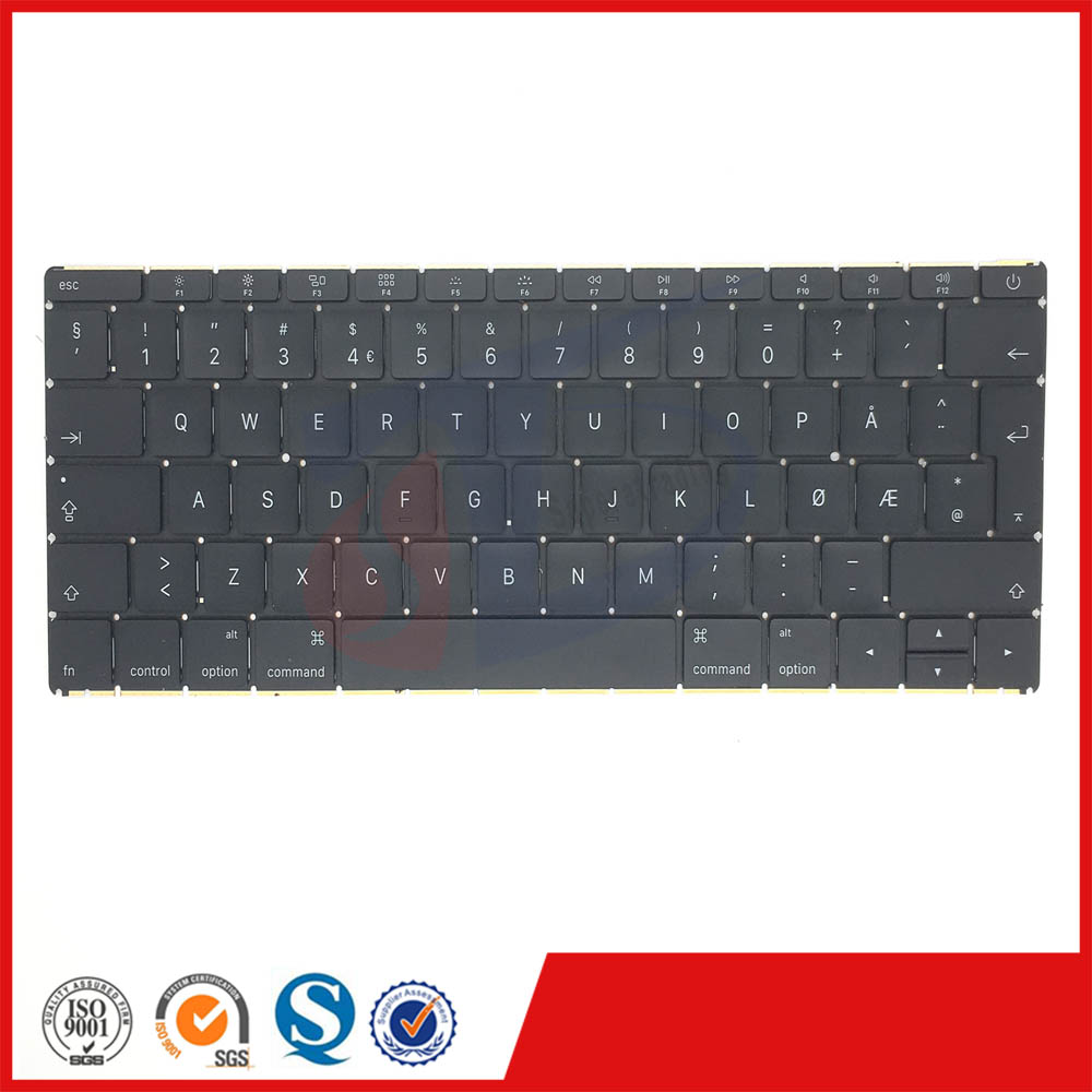 Early 2016year original for apple macbook retina 12inch A1534 Norway Norwegian NO NW keyboard without backlight backlit
