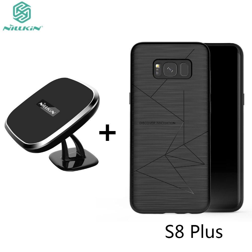 Chargeur magnétique sans fil de voiture NILLKIN chargeur Qi et support magnétique couvercle arrière du récepteur pour Samsung Galaxy S8 Plus
