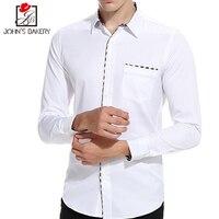 2017 New Fashion Brand Men Shirt Stitching Dress Shirt Long Sleeve Slim Fit Camisa Masculina Casual