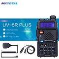 2 unids nk 8 w baofeng uv-5r uv-5r plus walkie talkie vs PLUS Transceptor Walkie Talkie VHF UHF Dual + 1 unids Altavoz Mic + 1 unids Cable