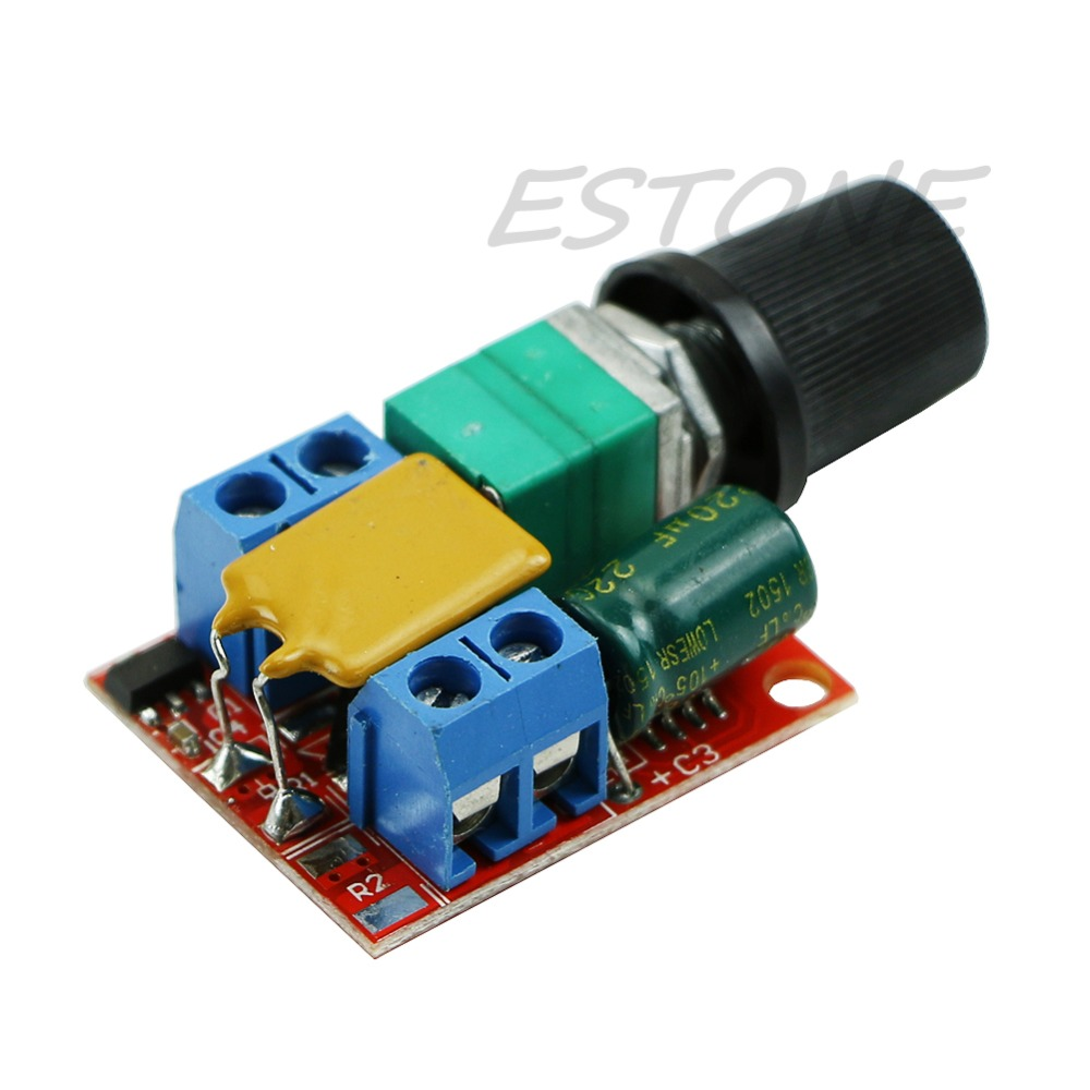 Ootdty j34 mini dc motor pwm speed controller 3v 35v speed for Dc motor light led