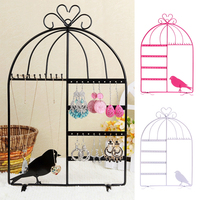 Wall Jewelry Earring Organizer Hanging Holder Necklace Chain Display Stand Rack