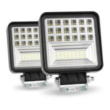 цена на 1Pcs/2Pcs 400W 6000K 4inch LED Work Light Bar Flood Spot Beam Offroad 4WD SUV Driving Fog Lamp IP68 Square Car Led Light Bulb