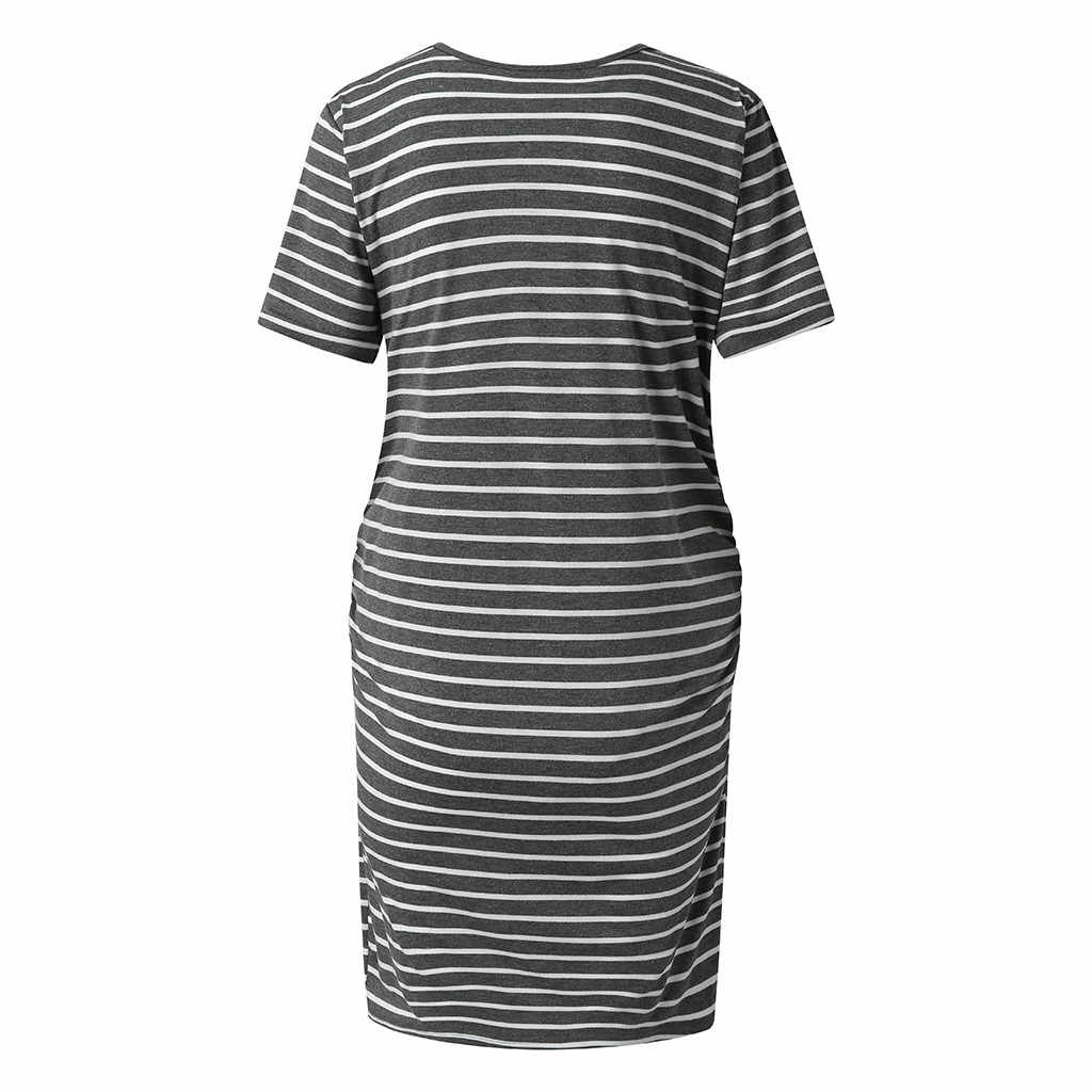 Women's Maternity Bodycon Ruched Casual Dress For Daily Wearing Or Baby Shower 2019 Fashion Trends Maternity Summer Clothes