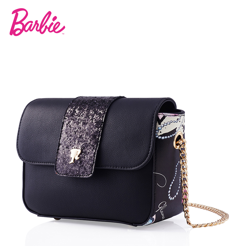 2018 Barbie Women Shoulder Bag Small Flap Handbags Fashion Bags Delicate Cross Body Silver