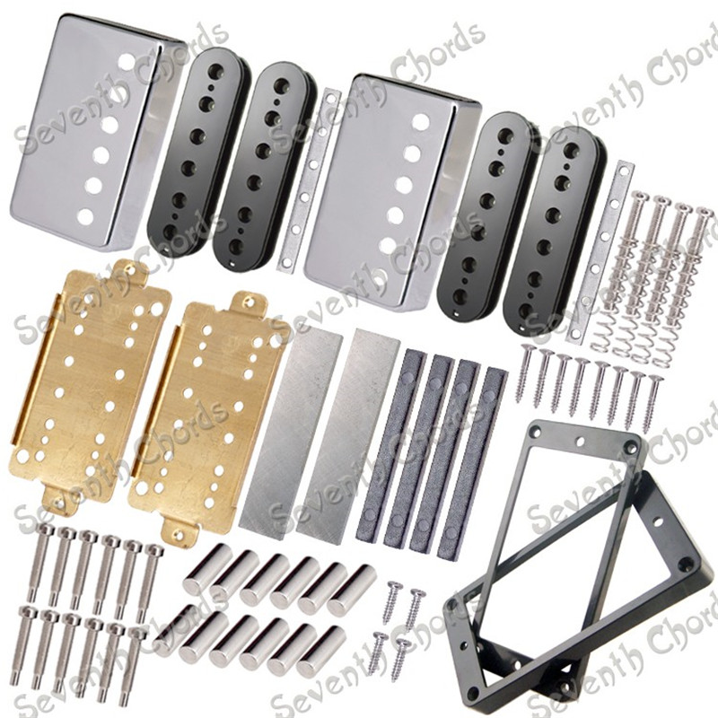 A Set Guitar Humbucker Pickup Kits Producing Accessories Brass Coverand Baseplate and  Unmagnetized Alnico 5 Bar Magnet interactions between siderophore producing microorganisms