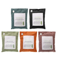Natural Air Purifier Bags Charcoal Bamboo Pouch Bathrooms Freshener Pouch 5packs